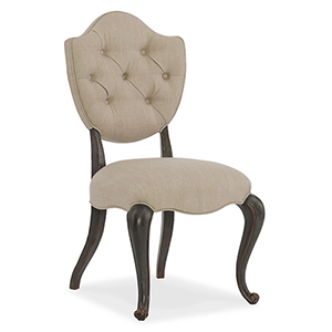Arabella Beige and Gray Upholstered Side Chair