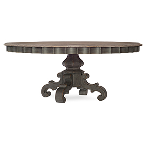 Arabella Gray 72-Inch Round Pedestal Dining Table