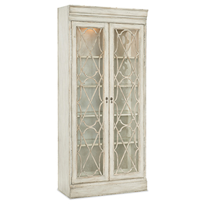 Arabella White Bunching Display Cabinet
