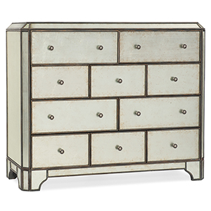 Arabella Silver Ten-Drawer Bureau