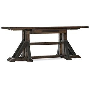 Roslyn County Dark Wood Trestle Desk