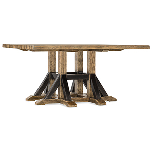 Roslyn County Medium Wood Square Dining Table