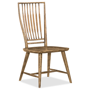 Roslyn County Medium Wood Spindle Back Side Chair