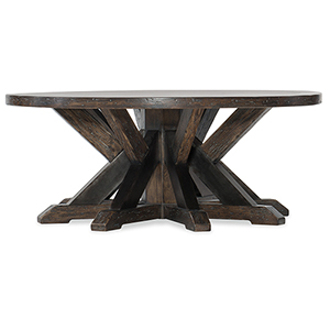 Roslyn County Dark Wood Round Cocktail Table