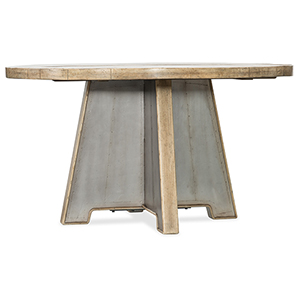 Urban Elevation Light Wood 54-Inch Metal Dining Table