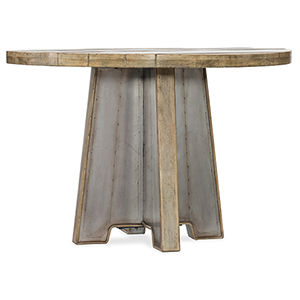 Urban Elevation Light Wood 44-Inch Metal Dining Table