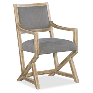Urban Elevation Light Wood Upholstered Arm Chair