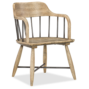 Urban Elevation Light Wood Low Windsor Arm Chair
