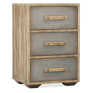 Urban Elevation Light Wood Three-Drawer Nightstand