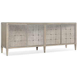 Modern Romance Medium Wood Four-Door Console