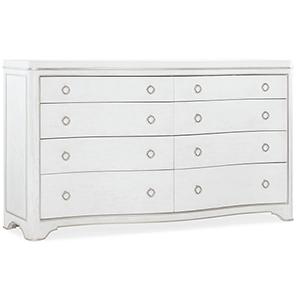 Modern Romance White Eight-Drawer Dresser