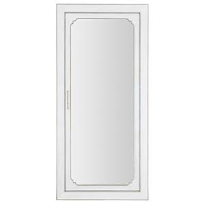 Modern Romance White Floor Mirror with Jewelry Storage