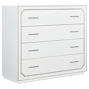 Modern Romance White Four-Drawer Bureau