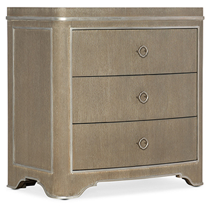 Modern Romance Medium Wood Three-Drawer Nightstand