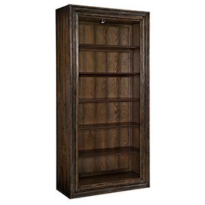 Crafted Dark Wood Bookcase