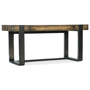 Crafted Dark Wood Leg Desk