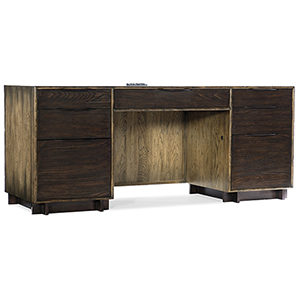 Crafted Dark Wood Computer Credenza