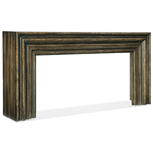 Crafted Dark Wood Hall Console