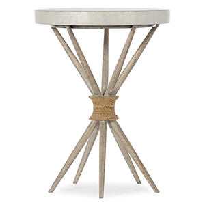 Amani White Accent Table
