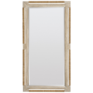 Amani Light Wood Floor Mirror