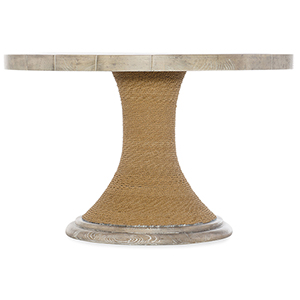 Amani Light Wood 48 In. Round Pedestal Dining Table