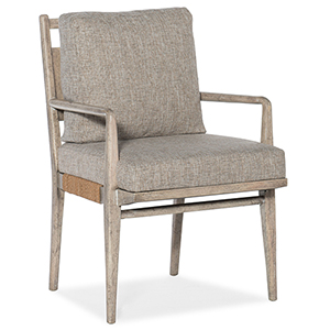 Amani Light Wood Upholstered Arm Chair