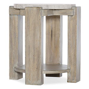 Amani Light Wood Round End Table