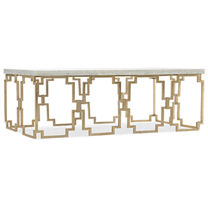 Evermore Gold Rectangle Cocktail Table