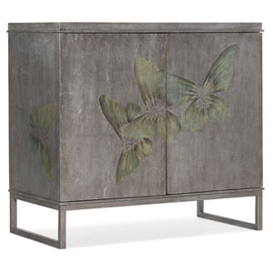 Gray Two-Door Cabinet