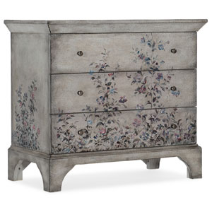 White Three-Drawer Chest