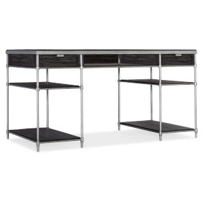 St. Armand Black and Brushed Petwer Writing Desk