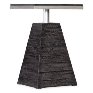 St. Armand Black and Brushed Petwer Drink Table