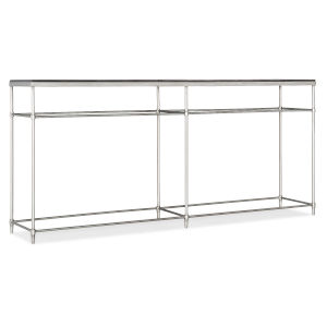 St. Armand Black and Brushed Petwer Console Table