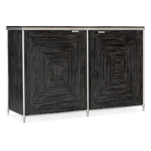 St. Armand Black and Brushed Petwer Door Chest