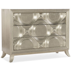 Silver Bubbly Accent Chest