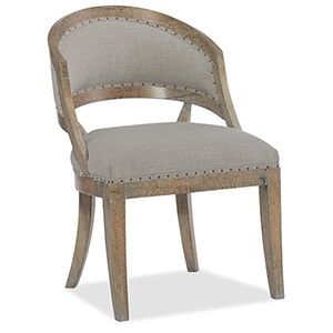 Boheme Garnier Light Wood Barrel Back Chair