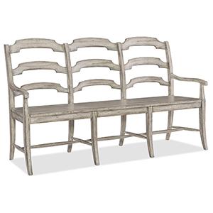 Boheme Du Monde Beige Ladderback Dining Bench