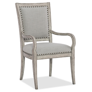 Boheme Vitton Beige Upholstered Arm Chair