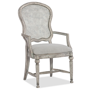 Boheme Gaston Metal Back Arm Chair