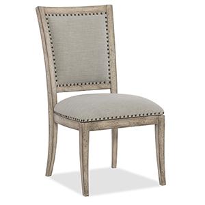 Boheme Vitton Beige Upholstered Side Chair