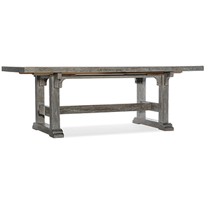 Beaumont Gray 84 In. Rectangular Dining Table with Two 22-In Leaves