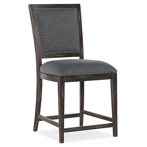 Beaumont Dark Wood Counter Stool