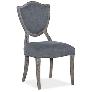 Beaumont Gray Shield-Back Side Chair