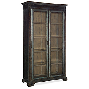 Beaumont Dark Wood Display Cabinet