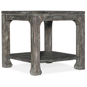 Beaumont Dark Wood Square End Table