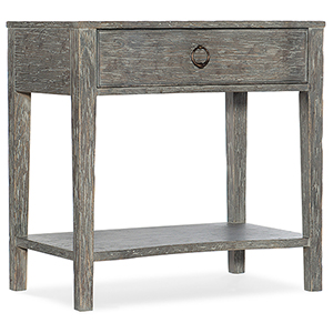 Beaumont Gray One-Drawer Nightstand