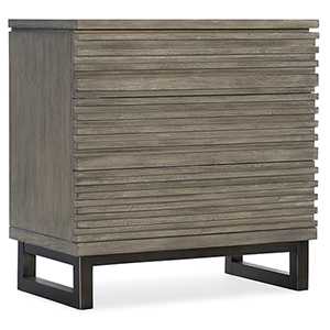 Annex Gray Three-Drawer Nightstand