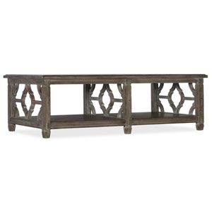Medium Wood Modele Rectangle Cocktail Table