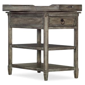 Medium Wood Modele Chairside Table