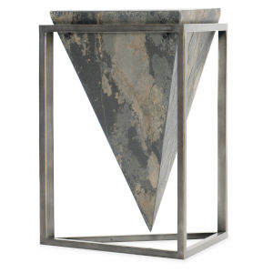Gray 24-Inch Cut End Table